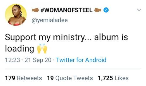 Yemi Alade Announces New Album Urges Fans to Support Her download
