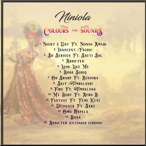"Niniola Shares ""Colours And Sounds"" Album Tracklist mp3 download"